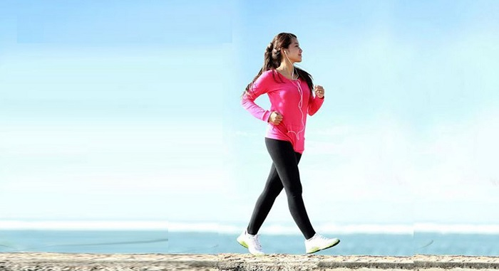 Tập thể dục, đi dạo trên bãi biển